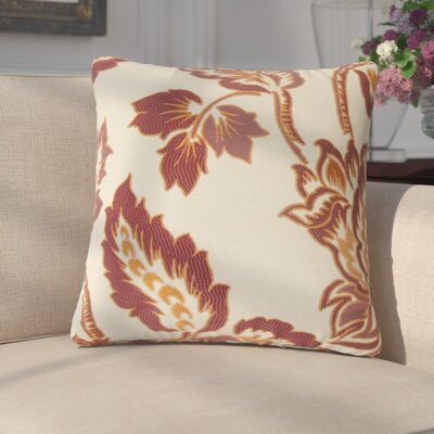 Edoardo Floral Throw Pillow Color: Ginger