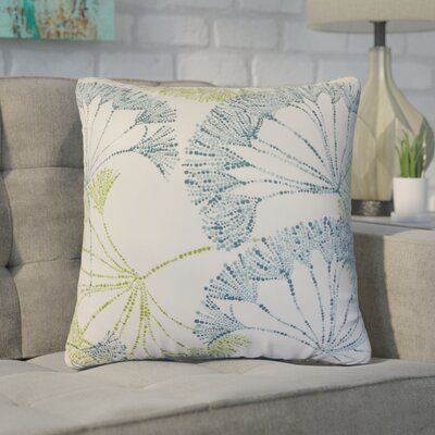 Witman Floral Cotton Throw Pillow Color: Aqua/Green