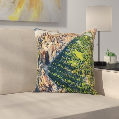 United States Central Park View Square Pillow Cover Size: 18 x 18