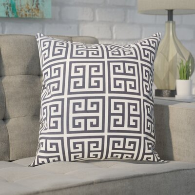 Blevins 100% Cotton Throw Pillow Color: Black / White, Size: 24 x 24