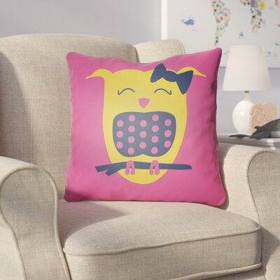 Colinda Owl Throw Pillow Size: 18 H x 18 W x 4 D, Color: Magenta