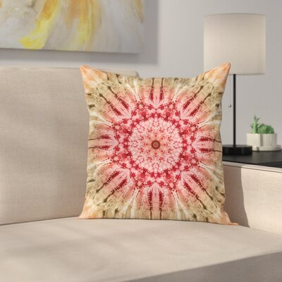 Batik Hippie Square Pillow Cover Size: 16 x 16