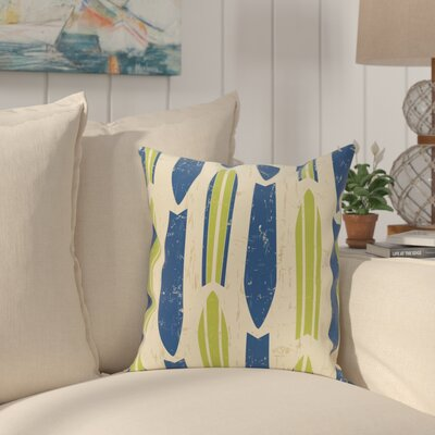 Golden Beach Dean Geometric Throw Pillow Size: 16 H x 16 W, Color: Light Green