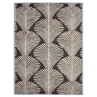 Chon Floral Hand-Tufted Wool Brown/Beige Area Rug Rug Size: Rectangle 9' x 12'