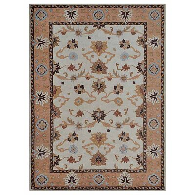 Creamer Vintage Hand-Tufted Wool Cream/Brown Area Rug Rug Size: Rectangle 9 x 12