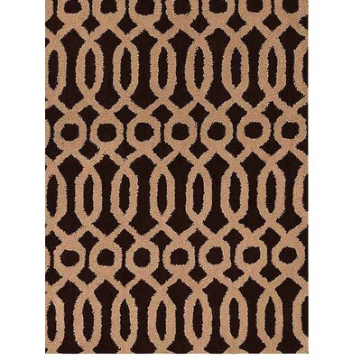 Friedensburg Geometric Hand-Tufted Wool Brown/Beige Area Rug