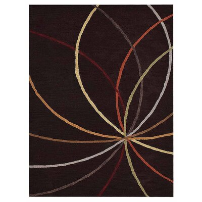 Johansson Geometric Hand-Tufted Wool Brown Area Rug Rug Size: Rectangle 5 x 8