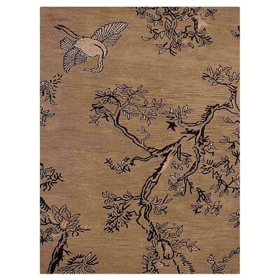 Camptown Floral Hand-Tufted Wool Beige Area Rug
