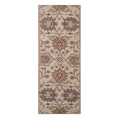 Creamer Vintage Hand-Tufted Wool Cream Area Rug Rug Size: Runner 26 x 8