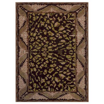 Hetzel Vintage Hand-Tufted Wool Brown/Beige Area Rug Rug Size: Rectangle 4 x 6