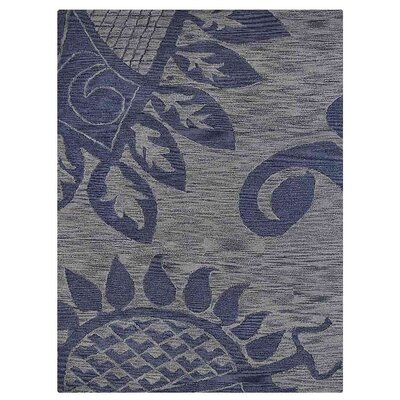 Camptown Contemporary Hand-Tufted Wool Blue Area Rug Rug Size: Rectangle 9 x 12