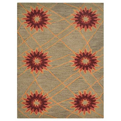 Johansson Floral Hand-Tufted Wool Cream Area Rug Rug Size: Rectangle 9 x 12