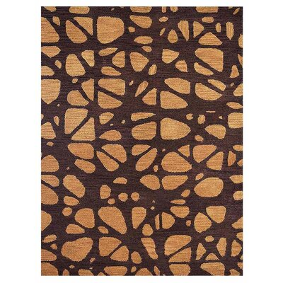 Johnathon Contemporary Hand-Tufted Wool Brown/Beige Area Rug Rug Size: Rectangle 6 x 9