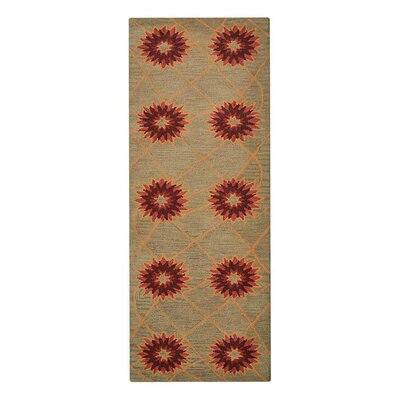 Johansson Floral Hand-Tufted Wool Cream Area Rug Rug Size: Runner 26 x 8