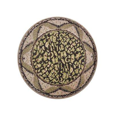 Hetzel Vintage Hand-Tufted Wool Brown/Beige Area Rug Rug Size: Round 8