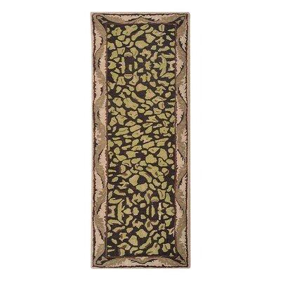 Hetzel Vintage Hand-Tufted Wool Brown/Beige Area Rug Rug Size: Runner 26 x 8