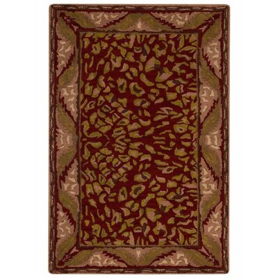 Hetzel Vintage Hand-Tufted Wool Red/Beige Area Rug