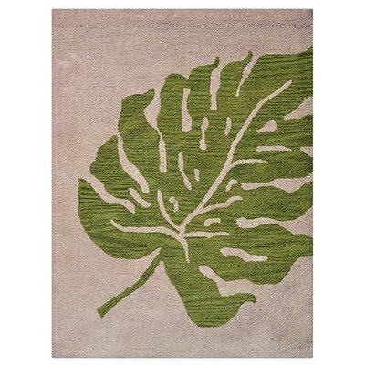 Ketterman Floral Hand-Tufted Wool Beige/Green Area Rug Rug Size: Rectangle 9 x 12