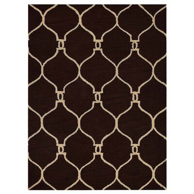Creasey Geometric Hand-Tufted Wool Brown/Beige Area Rug Rug Size: Rectangle 9 x 12