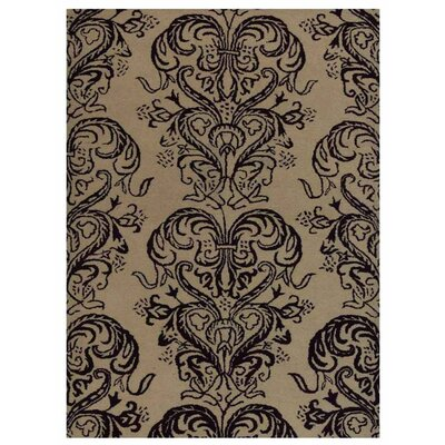 Creamer Hand-Tufted Wool Cream/Brown Area Rug