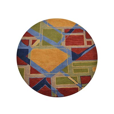 Johansson Geometric Hand-Tufted Wool Yellow/Red Area Rug