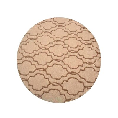 Creamer Geometric Hand-Tufted Wool Light Gold/Brown Area Rug