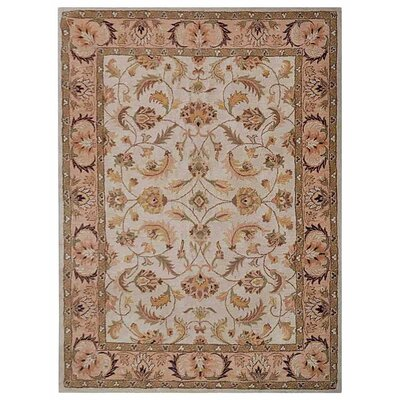 Creamer Vintage Hand-Tufted Wool Beige/Ivory Area Rug Rug Size: Rectangle 5 x 8