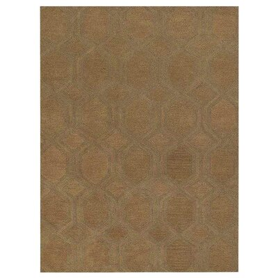 Creamer Geometric Hand-Tufted Wool Beige Area Rug