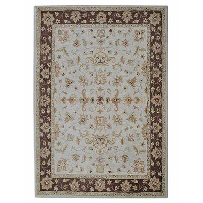 Creamer Vintage Hand-Tufted Wool Beige/Brown Area Rug Rug Size: Rectangle 5 x 8