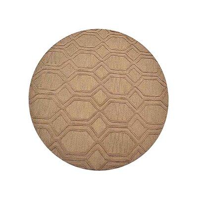 Creamer Geometric Hand-Tufted Wool Beige Area Rug