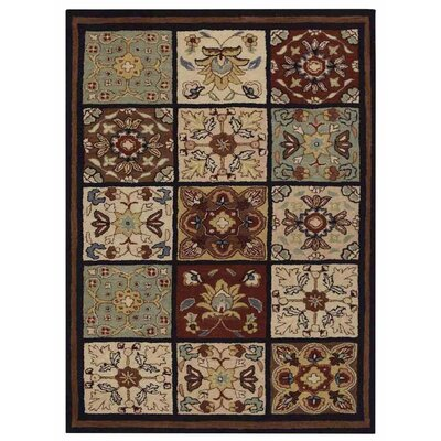 Creamer Floral Hand-Tufted Wool Brown/Gray Area Rug Rug Size: Rectangle 8 x 10