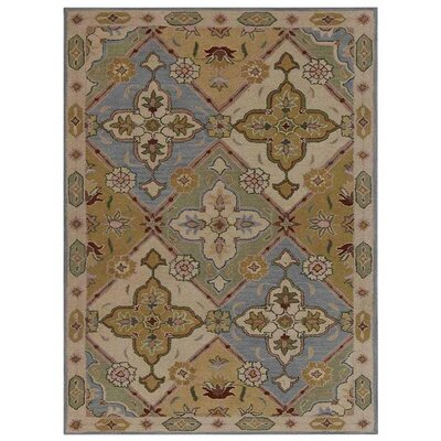 Creamer Vintage Hand-Tufted Wool Cream/Gray Area Rug
