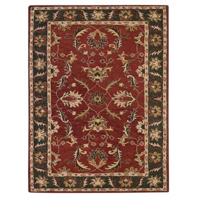 Creamer Vintage Hand-Tufted Wool Red/Green Area Rug Rug Size: Rectangle 9 x 12