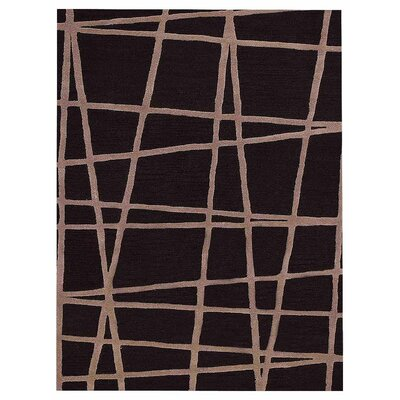 Hultgren Geometric Hand-Tufted Wool Brown Area Rug Rug Size: Rectangle 9 x 12