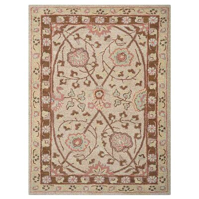 Creamer Vintage Hand-Tufted Wool Cream Area Rug Rug Size: Rectangle 8 x 11