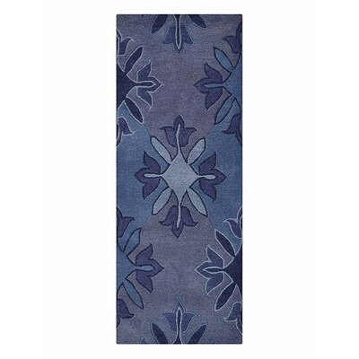 Johansson Floral Hand-Tufted Wool Blue Area Rug Rug Size: Runner 26 x 6