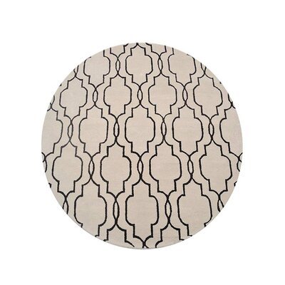 Creamer Geometric Hand-Tufted Wool Beige/Brown Area Rug