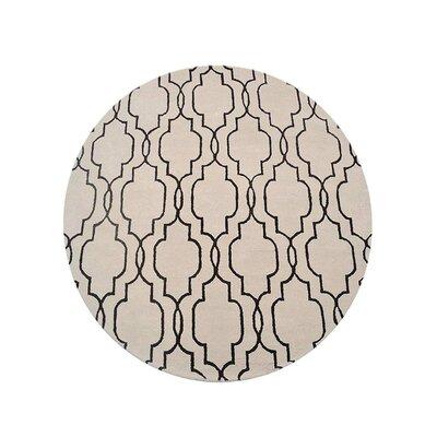 Creamer Geometric Hand-Tufted Wool Beige/Brown Area Rug