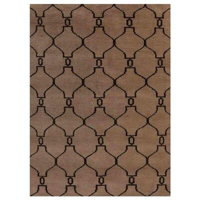 Cheswick Trellis Hand-Knotted Wool Beige/Brown Area Rug Rug Size: Rectangle 5 x 8