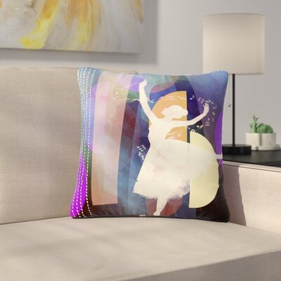 AlyZen Moonshadow Ballet Outdoor Throw Pillow Size: 16 H x 16 W x 5 D