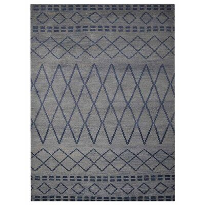 Cheswick Geometric Hand-Knotted Wool Light Area Rug Rug Size: Rectangle 9 x 12