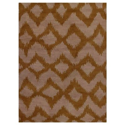 Heuer Geometric Hand-Knotted Wool Beige/Gold Area Rug