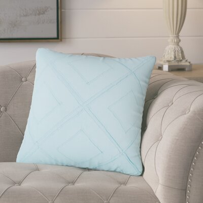 Kingsburg Decorative 100% Cotton Throw Pillow Color: Light Blue