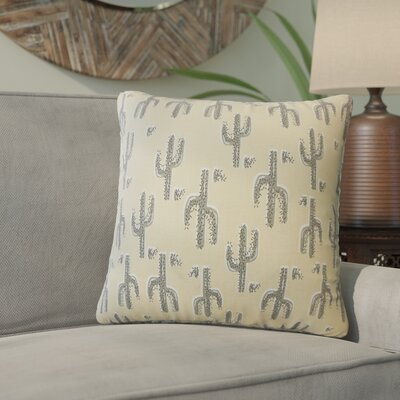 Fairhope Graphic Cotton Throw Pillow Color: Camel