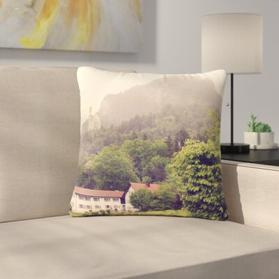 Sylvia Coomes German Beauty Travel Outdoor Throw Pillow Size: 16