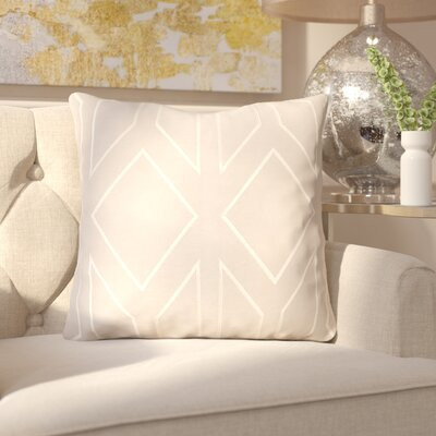Honiton Linen Throw Pillow Size: 18 H x 18 W x 4 D, Color: Gray