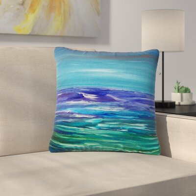 Cyndi Steen Moonlit Waves Outdoor Throw Pillow Size: 18 H x 18 W x 5 D