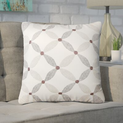 Peregrin Geometric Cotton Throw Pillow Color: Mocha
