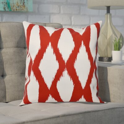 Blauvelt Decorative Hypo Allergenic Throw Pillow Size: 16 H x 16 W, Color: Red
