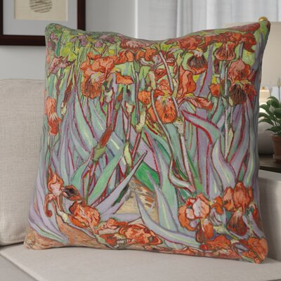 Morley Irises Square Euro Pillow Color: Orange